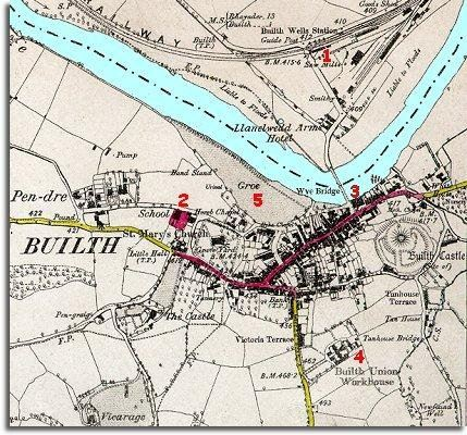 Map of Builth in 1888