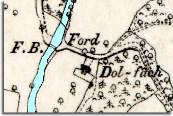 map of Dolfach in 1888