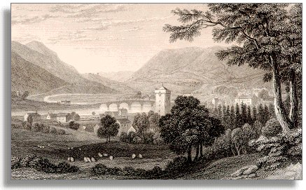 1830 engraving of Builth