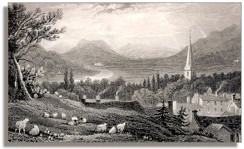 Engraving of Crickhowell
