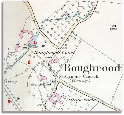 Map of Boughrood in 1887