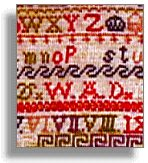 Part of Victorian sampler