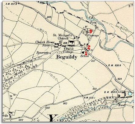 map of Beguildy in 1903