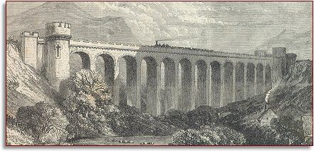 newspaper engraving of Knucklas viaduct