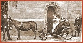 Queen Victoria in donkey cart