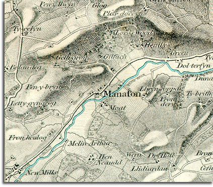 Map of Manafon in 1836