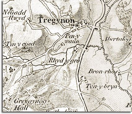 The Way The Map Is Shaded Gives Us A Very Good Idea Of The Shape Of The Landscape From This You Can See That Tregynon Developed On A Slope By The Road