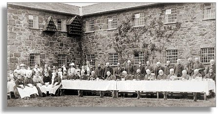 Tea party at Llanfyllin workhouse