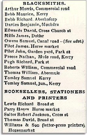 extract from Slater's Directory