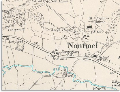 map of Nantmel in 1904