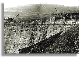Craig goch dam under construction