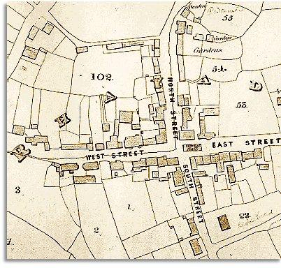 map of Rhayader in 1840