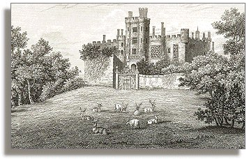 Engraving of Powis Castle