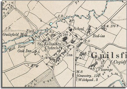 "6"" map of Guilsfield"