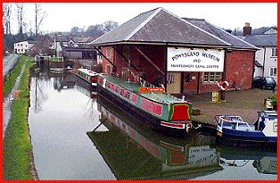 Canal wharf at Welshpool